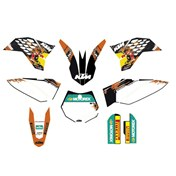 USA FACTORY GRAPHICS KIT, KTM SX 65 09-14