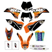 "GRAPHICS KIT ""FACTORY"" KTM SX/SX-F 07-10 EXC/EXC-F 08-11"