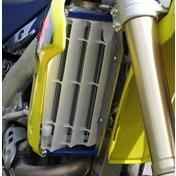 AXP Radiator Guard Blue, Suzuki RMZ 250 12-14