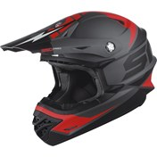 Helmet Scott 350 Pro Podium ECE satin grey/red