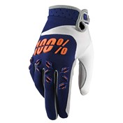 100% Airmatic Youth Glove Navy/Orange