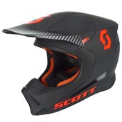 SCOTT 550 HATCH ECE HELMET BLACK/ORANGE