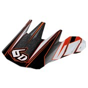 6D RUSH VISOR, ORANGE/BLACK
