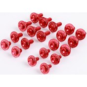 ZETA Alu. Bolt Set for Plastics Red (20 pcs), Honda CRF450 17->