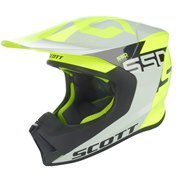 SCOTT 550 WOODBLOCK ECE HELMET GREY/YELLOW, L