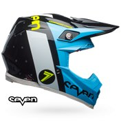 BELL Moto-9 Carbon Flex Helmet Seven Flight Black