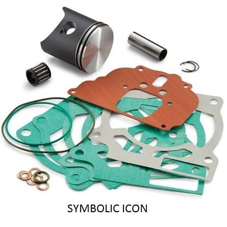 PISTON KIT KLASS I, KTM SX-F 350 2019, HQV FC 350 2019