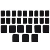 Pod Velcro Set Black, One Size