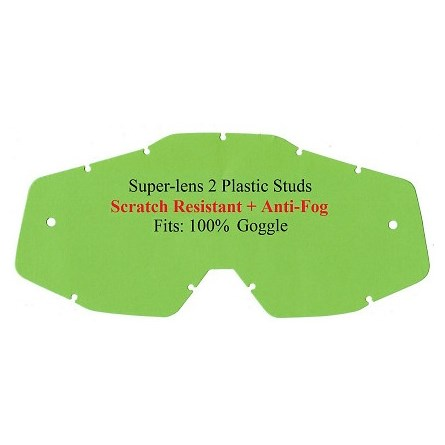 POLYWEL Super-Lens Anti Fog 2 Studs Clear Fits 100%