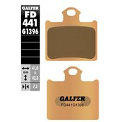 GALFER REAR PADS SINTERED, KTM SX 85 11-20, FREERIDE 250/350 12-20, HQV TC 85 14-20